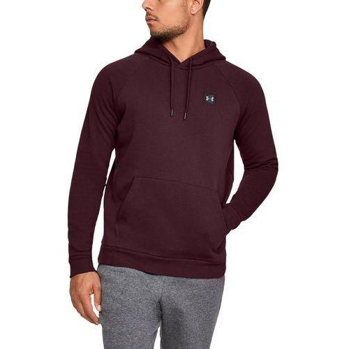 bluza z kapturem rival fleece po hoodie bordowa - bordowy marki Under armour