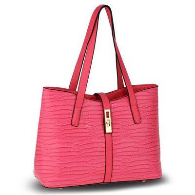 037fda6b95c47 Wielka brytania Różowa lakierowana torebka na ramię skóra krokodyla -  różowy Evangarda.pl