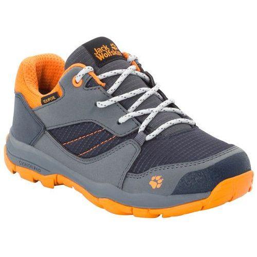 Jack wolfskin Buty trekkingowe dla dzieci mtn attack 3 xt texapore low k ebony / orange - 36