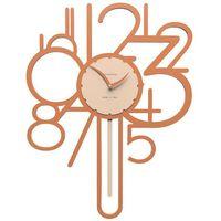 Zegar ścienny z wahadłem joseph  terakota marki Calleadesign