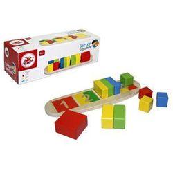 Playme Sorter kształtów w do nauki liczenia, drewniany