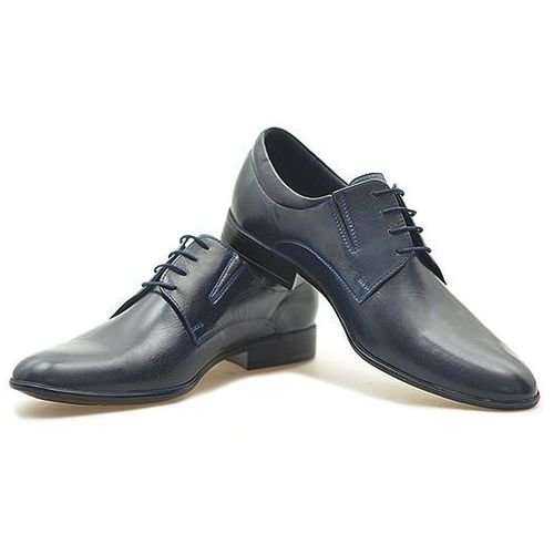 Pantofle Pan 775 Granatowe