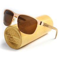 Drewniane okulary przeciwsłoneczne Niwatch Cetus Brown