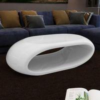 vidaXL Nowoczesny stolik do kawy, nietypowy kształt biały, lśniący (8718475848233)