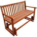 ławka bujana na werandę, z drewna akacjowego marki Vidaxl