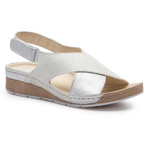 Sandały HELIOS - 253 Srebro, kolor szary