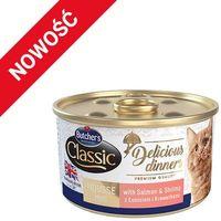BUTCHER'S Classic Delicious Dinners z łososiem i krewetkami - puszka 85g