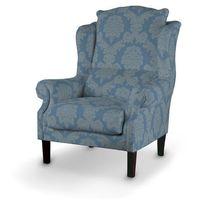 Dekoria Fotel, niebieski, 85x107cm, Damasco