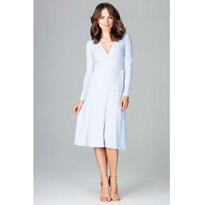 706964a66b suknie sukienki zielona elegancka sukienka kopertowa zapinana na ...