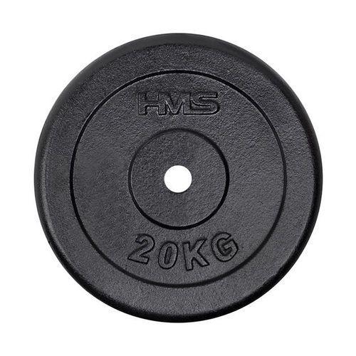 Hms Obciążenie talerz czarny tcz20 20 kg - 20 kg