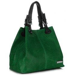 33a7669a21504 Vittoria Gotti. VITTORIA GOTTI Włoska Torebka Skórzana wzór Aligatora  Zielona (kolory), kolor zielony
