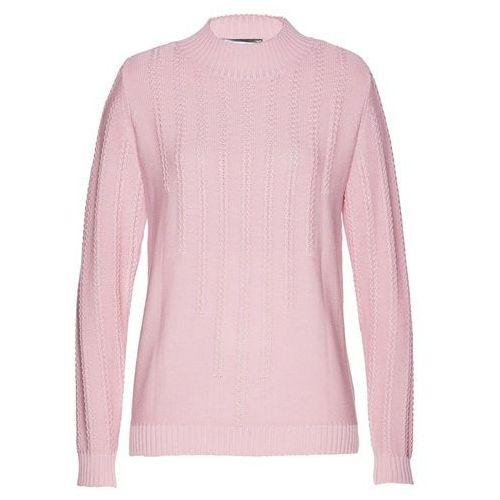 Bonprix Długi sweter bez zapięcia orzechowy