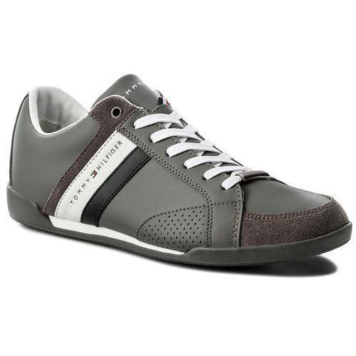 c4e63de25e608 Sneakersy TOMMY HILFIGER - Corporate Material Mix Cupsole FM0FM01532 Steel  Grey 039, 41-46