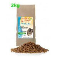Power of Nature Active Cat Farm Mix Organic 2kg z kurczakiem, łososiem, jagnięciną, jajkami i brązowym ryżem, 5907222093573