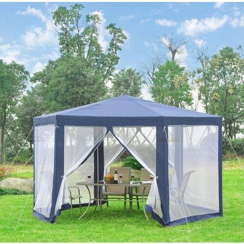 Aosom Pawilon ogrodowy 3,9 x 3,9 z moskitiera hit kolory