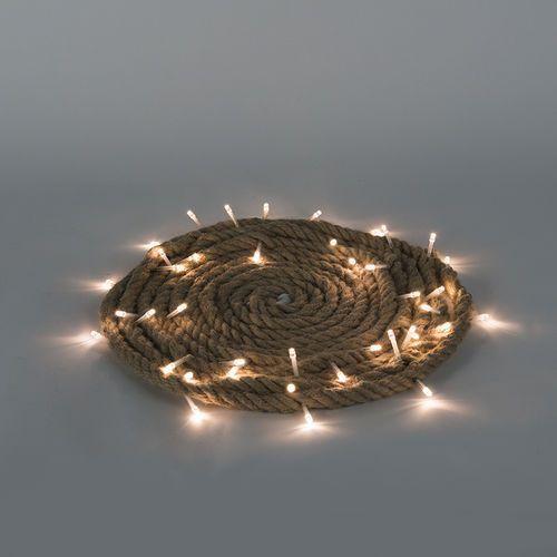 Oswietlenie swiateczne lancuch swietlny touw led barwa cieplo biala 3,9 m Diverse