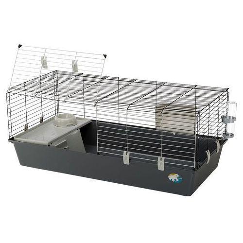 rabbit 120 klatka dla królików i świnek morskich - jasnoszara kuweta marki Ferplast