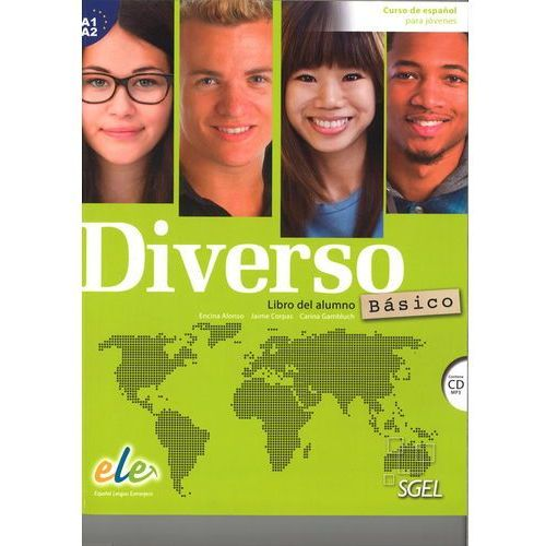 Diverso basico A1+A2 podręcznik + CD MP3 - Alonso Encina, Jaime Corpas, Gambluch Carina (2015)