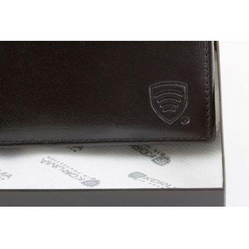 4c5d7cc5e4cf5 Koruma® ✅ skórzany portfel z ochroną kart zbliżeniowych paypass rfid  (czarny) - czarny