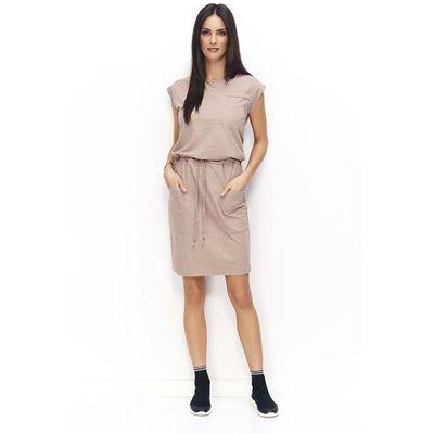 7534aee4f9 Cappuccino Sportowa Sukienka z Kieszeniami