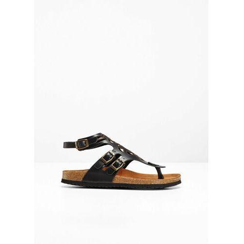 Wygodne sandały skórzane czarny, Bonprix, 36-42
