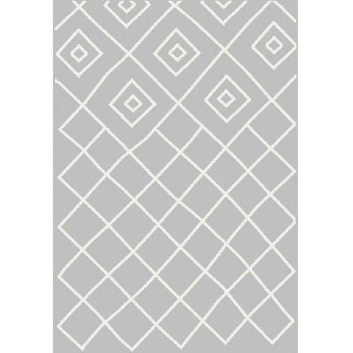 Dywan Shaggy Eco Komfort Mila 120x170 Szary Biały Romby Krata Myretail