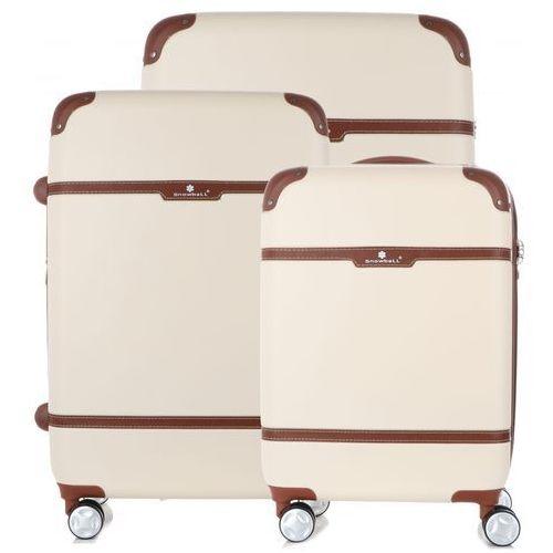 4c991ba3ac707 Ekskluzywny zestaw walizek 3w1 z możliwością poszczerzenia firmy beżowy  (kolory) marki Snowball - fotografia
