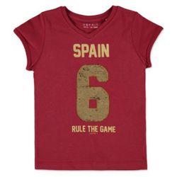 ESPRIT Girls Soccer Bluzka z krótkim rękawkiem Spain red