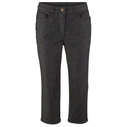 """Spodnie 3/4 """"Superstretch"""" bonprix czarny, bawełna"""