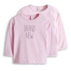 ESPRIT Girls Newborn Bluzka z długim rękawem 2 szt. Pink, kolor różowy