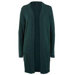 Bonprix Sweter bez zapięcia szary melanż + czarny