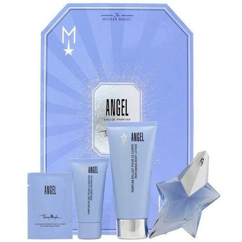 Angel, zestaw podarunkowy, woda perfumowana 25ml + mleczko do ciała 100ml + żel pod prysznic 30ml + krem do ciała 10ml Thierry mugler