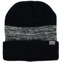 czapka zimowa SNOWBITCH - Černošedý (BLACK-GREY)