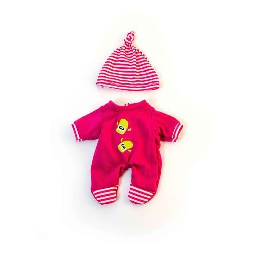 Ubranko dla lalki 21 cm różowe śpioszki z czapeczką, kolor różowy