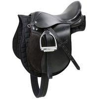 siodło dla koni haflinger skórzane czarne 32285 marki Kerbl