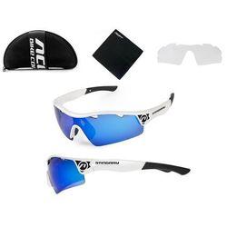 Okulary stingray białe 2 pary soczewek - biało - czarne marki Accent