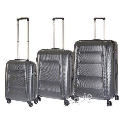 Zestaw walizek Puccini New York PC017 - antracytowy