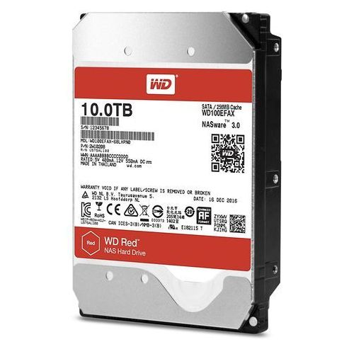 Western digital Wd red 10tb sata 6gb/s 256mb cache internal 3.5inch 24x7 5400rpm optimized for soho nas systems 1-8 bay hdd bulk