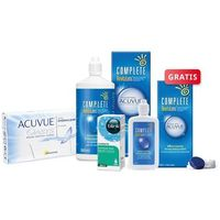 ACUVUE OASYS 6 szt. + płyn Complete RevitaLens 360 ml + krople Blink Contacts + płyn 120 ml GRATIS