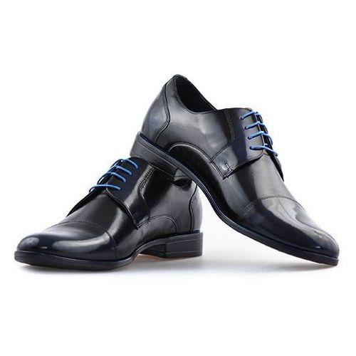 Pantofle Pan 763 Czarny+Niebieski