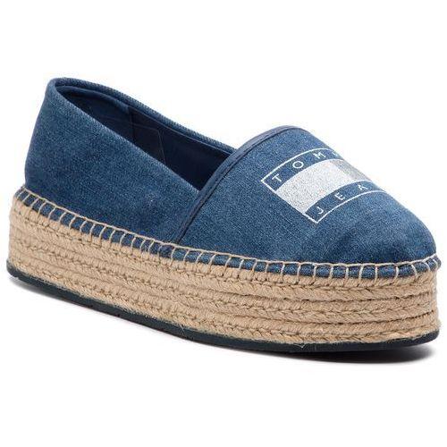 16693b46e20aa Tommy Jeans Tommy jeans Espadryle - stretch denim espadrille en0en00571  denim 404