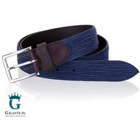 Granatowy pasek do spodni męski miguel bellido casual/sport 675-35-2341-12-026