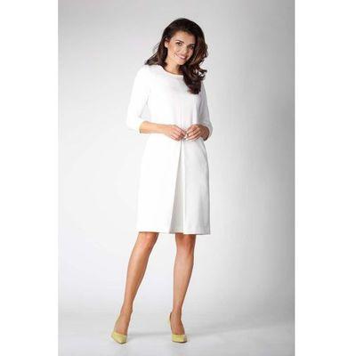 62b53c9311 suknie sukienki prosta elegancka dwukolorowa sukienka z haftami ...