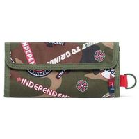 portfel HERSCHEL - Independent Smith Woodland Camo Multi Independent Logo/Cypress (03028)