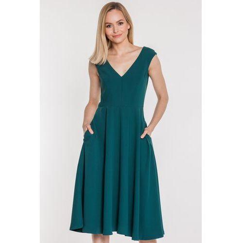 1979ba48a Sukienka adrianna zieleń jadeitowa (Aggi) opinie + recenzje - ceny w ...