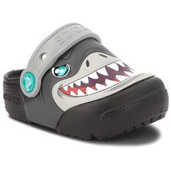 Klapki CROCS - Fun Lab Lights Clog K 205000 Black, kolor szary