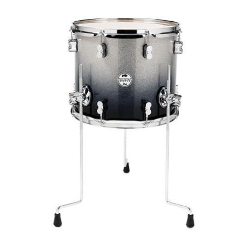 PDP (PD806268) Floor Tom Silver to Black Sparkle Fade