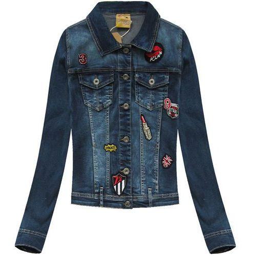 Kurtka jeansowa z naszywkami granatowa (e016#) marki Zac&zoe