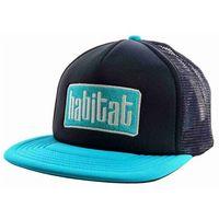 czapka z daszkiem HABITAT - Apex Low Blk/Teal (CERNA)