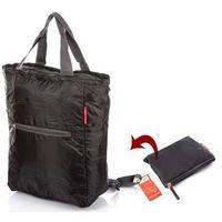 Plecako-torba składana czarna męska damska Bag Street